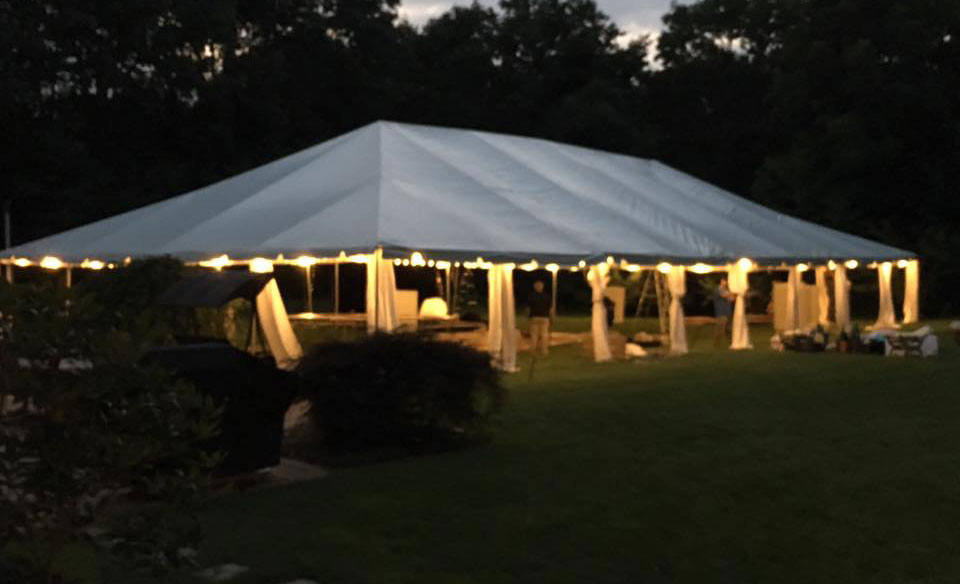 Lighted Tent at Night