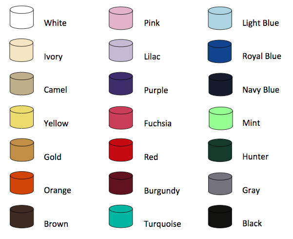 Standard Linen Color Swatches